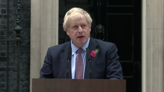 boris johnson speech england london downing street ext boris johnson speech sot part 2 of 3 on the record of his government on investment and the... - wladimir putin stock-videos und b-roll-filmmaterial