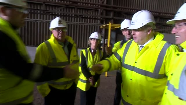 boris johnson tours wilton engineering england county durham stocktonontees wilton engineering int boris johnson touring factory/warehouse / johnson... - county durham england stock videos & royalty-free footage