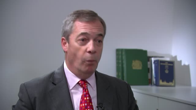 brexit party launches contract with the voters england london westminster int nigel farage mep interview sot - nigel farage stock videos & royalty-free footage