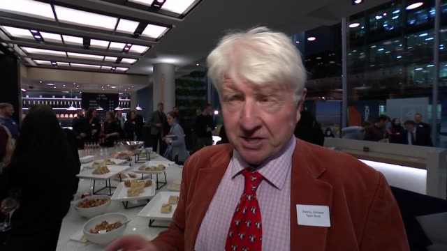 channel 4 news climate debate stanley johnson interview england london gir int stanley johnson interview sot am i the only one wearing team boris... - kansas stock videos & royalty-free footage