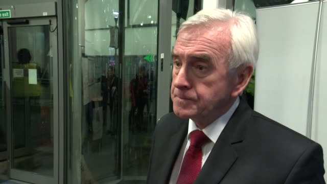 general election 2019: conservative majority: john mcdonnell interview; england: london: hillingdon: int john mcdonnell mp interview sot. - pleased... - strategy stock videos & royalty-free footage