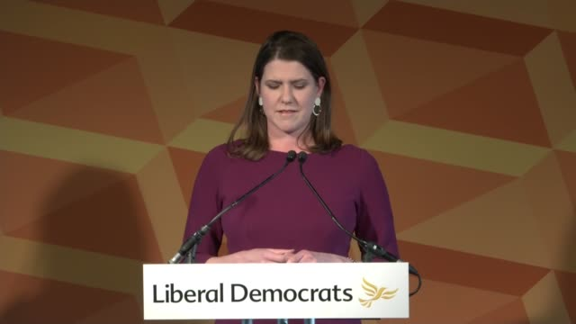 conservative majority liberal democrats leader jo swinson resignation speech england london royal festival hall int jo swinson resignation speech... - populism stock videos and b-roll footage