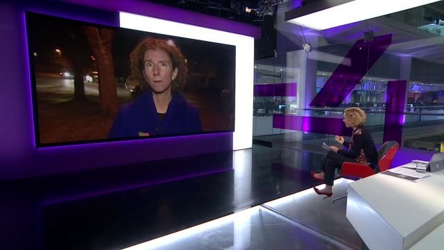 conservatives claim labour's election policies would cost £12 trillion over five years england oxford / london gir int reporter to camera anneliese... - キャシー・ニューマン点の映像素材/bロール
