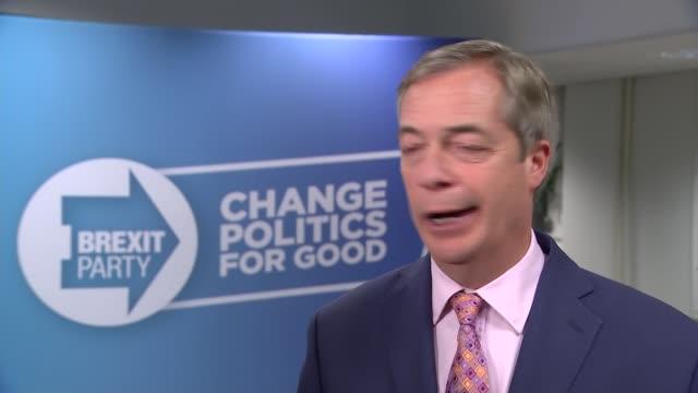 conservatives win majority nigel farage interview england london int nigel farage mep interview sot - nigel farage stock videos & royalty-free footage
