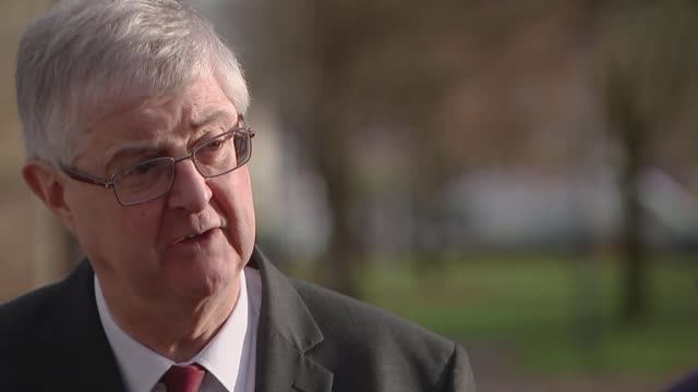 fight for seats in wales wales cardiff ext mark drakeford am with others reporter and drakeford mark drakeford am interview sot various of adam price... - valley type stock videos & royalty-free footage