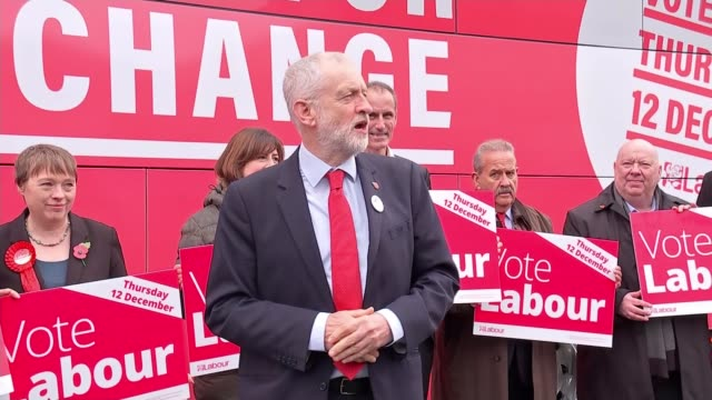 general election 2019: former labour mps back boris johnson for prime minister; england: liverpool: ext jeremy corbyn mp along to labour party... - labour party stock videos & royalty-free footage