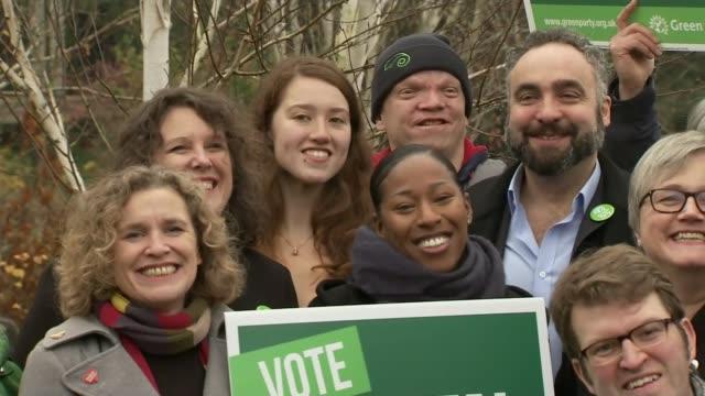 stockvideo's en b-roll-footage met general election 2019: green party pledge net zero carbon emissions by 2030; england: london: barnes: london wetland centre: ext jonathan bartley... - politics