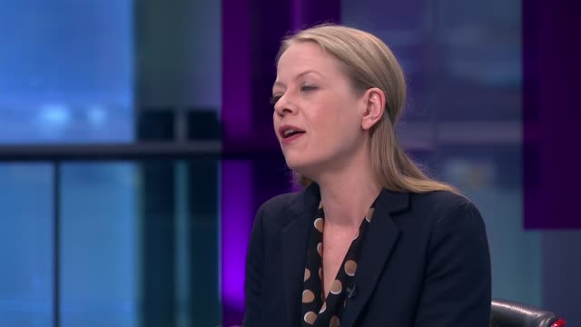 interview with green party coleader sian berry england london gir int sian berry live studio interview sot - jackie long stock videos & royalty-free footage