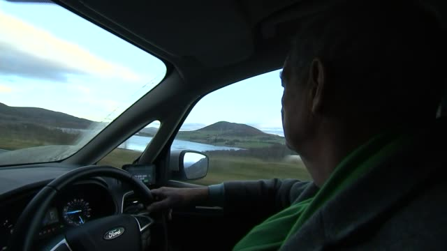 issues of brexit and independence collide in wales wales view of countryside from car as along reporter driving car ext various of llyn celyn... - valley type stock videos & royalty-free footage