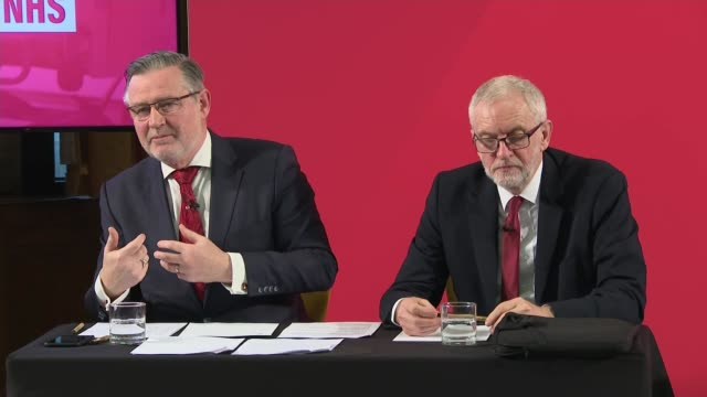 general election 2019: jeremy corbyn press conference; england: london: int barry gardiner answering question sot. - it doesn't take 6 meetings to... - uncertainty stock videos & royalty-free footage