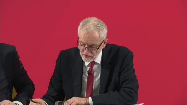 jeremy corbyn press conference england london int jeremy corbyn answering question sot we will work with everyone to ensure the safety of a... - fighting stance stock videos & royalty-free footage