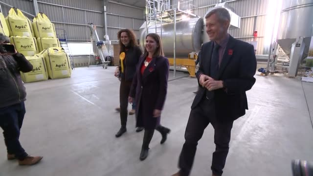 jo swinson visits crafty maltsters in fife scotland fife auchtermuchty photography*** jo swinson and willie rennie chatting as along / various of... - craft stock videos & royalty-free footage