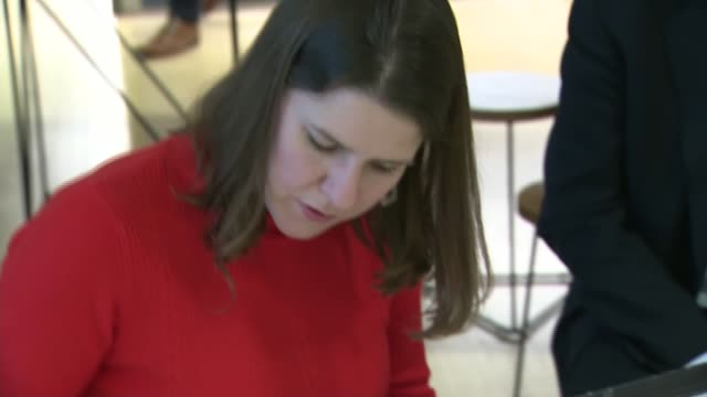 jo swinson visits the design museum england london kensington design museum photography** jo swinson sitting drawing and chatting with deyan sudjic /... - concepts stock videos & royalty-free footage