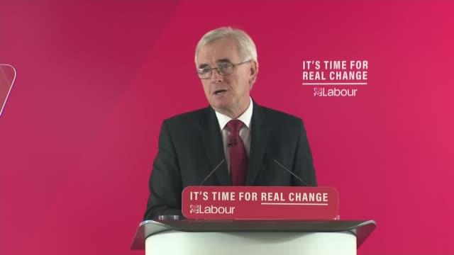 john mcdonnell speech england london lambeth int john mcdonnell speech sot - lambeth stock videos & royalty-free footage