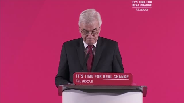 general election 2019: john mcdonnell speech on the economy; england: london: westminster: int john mcdonnell speech sot part 5 of 5. - public poorly... - responsibility stock videos & royalty-free footage