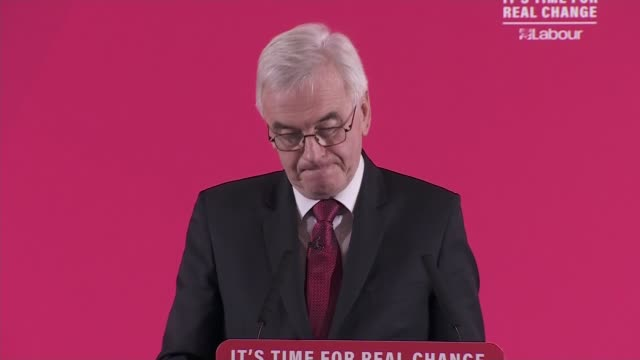 general election 2019: john mcdonnell speech on the economy; england: london: westminster: int john mcdonnell speech sot part 2 of 5. - social and... - infinity stock videos & royalty-free footage