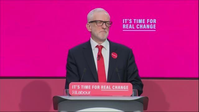 general election 2019: labour party manifesto launch; uk, birmingham. birmingham city university; jeremy corbyn and the shadow cabinet posing with... - labour party stock videos & royalty-free footage