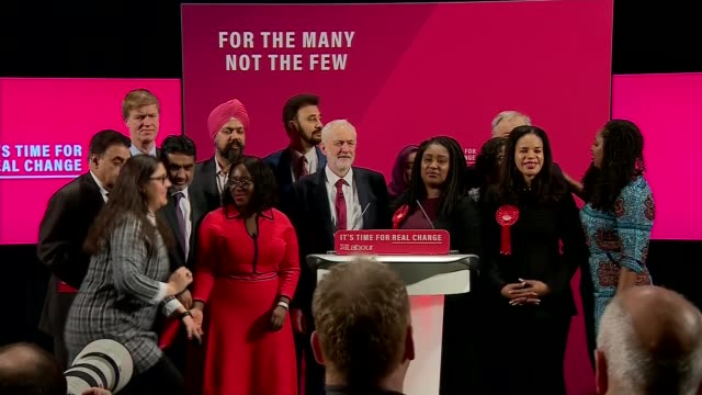 labour party 'race and faith' manifesto launch england london tottenham bernie grant arts centre labour party 'race and faith manifesto' launch int... - music stand stock videos & royalty-free footage