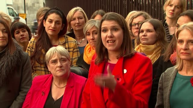 liberal democrats threaten legal action against itv if not included in election debate england london ext jo swinson mp speaking sot boris johnson... - femininity stock videos & royalty-free footage