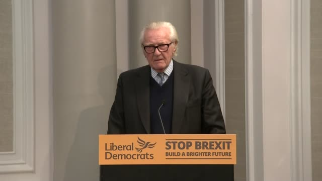 lord heseltine speech and press conference england london int lord michael heseltine speech sot i think that one of the most depressing aspects of... - overcast stock videos & royalty-free footage