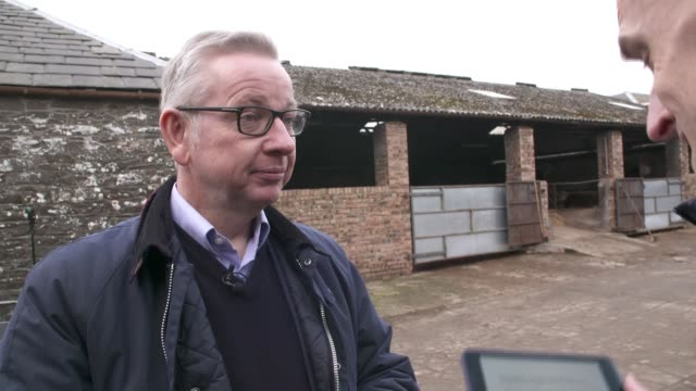 michael gove interview scotland dumfries and galloway ext michael gove interview sot part 1 of 3 - galloway scotland stock videos & royalty-free footage