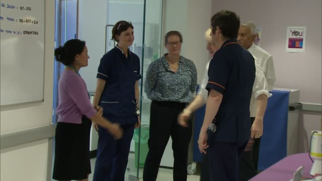 general election 2019: nhs is a key election issue: boris johnson visits addenbrooke's hospital; england: cambridge: addenbrooke's hospital: int... - shirt and tie stock videos & royalty-free footage