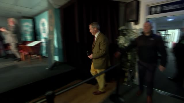 nigel farage claims number 10 insiders 'offered inducements' to get brexit party candidates to stand aside england lincolnshire / yorkshire int nigel... - nigel farage stock videos & royalty-free footage