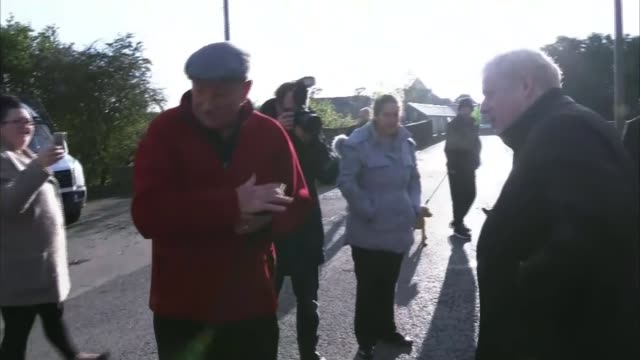 general election 2019 / north of england flooding boris johnson heckled during floods visit uk south yorkshire local residents of flooded villages... - sulking stock videos & royalty-free footage