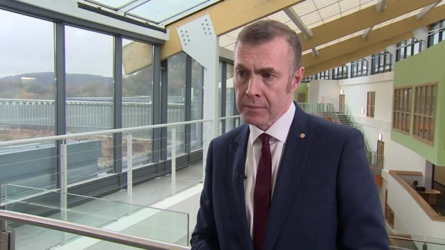 plaid cymru launch manifesto wales int adam price am giving interview reporter asking question sot adam price am interview sot reporter reporter and... - valley type stock videos & royalty-free footage