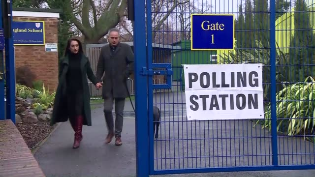 polling day jonathan bartley at polling station england london ext jonathan bartley arrives at polling station with unidentified woman / jonathan... - general election stock videos & royalty-free footage