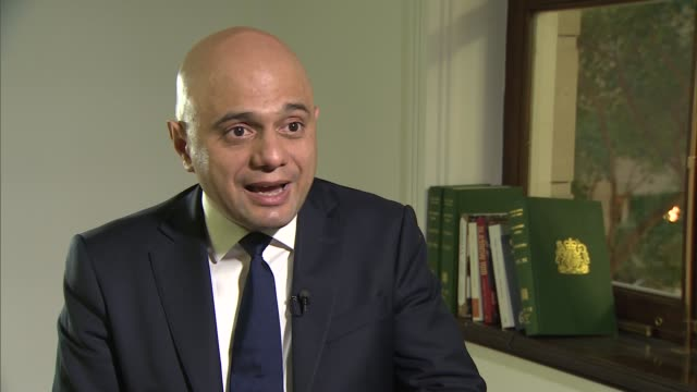 sajid javid interview england london westminster int sajid javid interview sot on criticism of lack of social housing and council homes waiting list... - consumerism stock videos & royalty-free footage