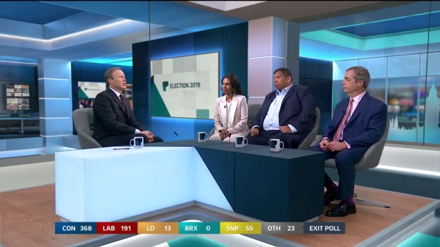 special 00000100 england london gir tom bradby leading discussion with gina miller raoul ruparel and nigel farage sot - nigel farage stock videos & royalty-free footage
