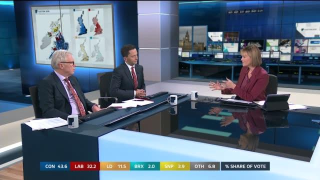 general election 2019: special: 09.25 – 10.00; scotland: edinburgh: ext martha fairley to camera sot england: london: gir: int studio julie... - julie etchingham stock videos & royalty-free footage