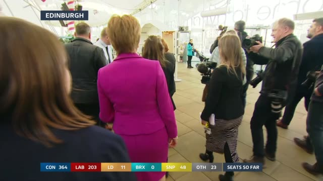 general election 2019: special: 12:00 - 13:00; england: london: gir: int studio julie etchingham leading discussion with professor jane green and... - julie etchingham stock videos & royalty-free footage