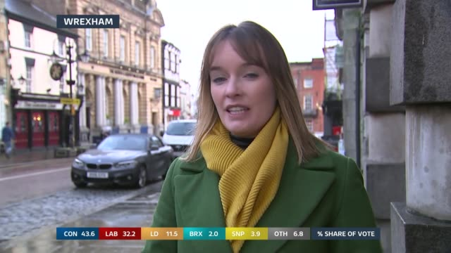 general election 2019: special: 13.00 - 14.00; england: london: gir: / wales: wrexham: int / ext split screen studio julie etchingham and stacey... - julie etchingham stock videos & royalty-free footage