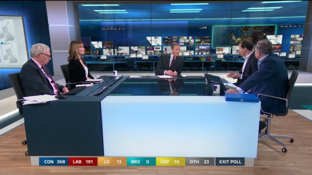 special 21552300 england london gir professor colin rallings george osborne ed balls and allegra stratton reaction to exit poll sot studio / election... - voting stock videos & royalty-free footage