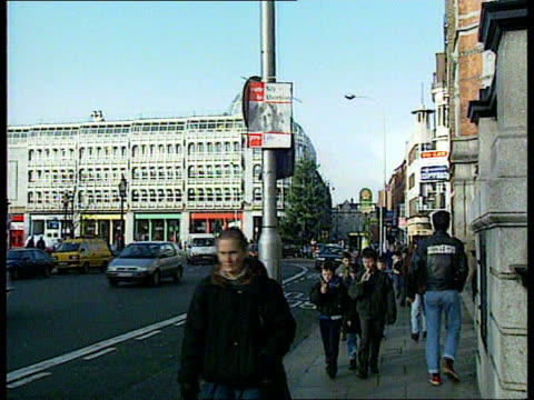 general election/ abortion vote ext lacms vote no to abortion poster on lampost pull out cms senator des hanafin intvwd sof irish people have... - abortion stock videos and b-roll footage