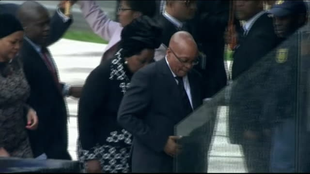 general election anc losing support amongst poor johannesburg soweto fnb stadium ext jacob zuma along at nelson mandela memorial service as crowd... - soweto stock videos and b-roll footage