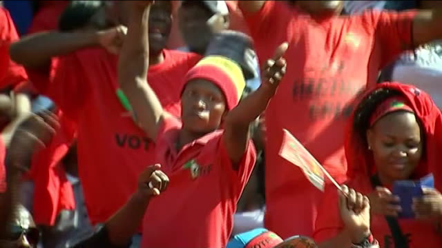 general election anc losing support amongst poor south africa johannesburg ext julius malema along with other party members at political rally... - hands behind back stock videos and b-roll footage