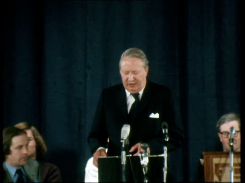 edward heath speech england edward heath speech - 1974 stock videos & royalty-free footage