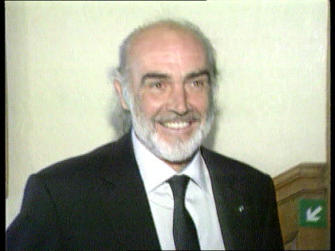 celebrities; tx 20.09.91 itn lib scotland cms sean connery towards pull out as towards - sean connery stock videos & royalty-free footage