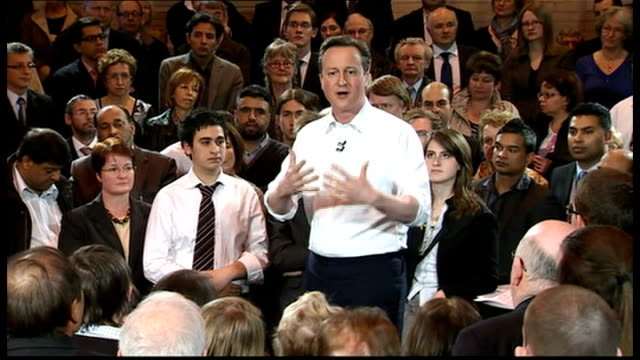 stockvideo's en b-roll-footage met david cameron campaigns in bury david cameron speech continued sot this is an exciting and compelling message about how we can solve problems in our... - huishoudelijke dienstverlening