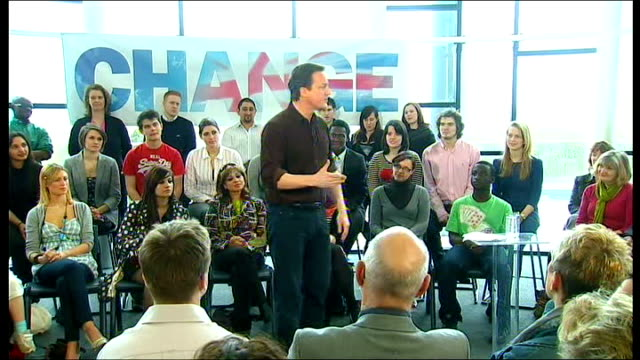 david cameron election speech david cameron mp speech sot now the prime minister has just made a speech in nottingham as you know i don't like... - display cabinet stock videos & royalty-free footage