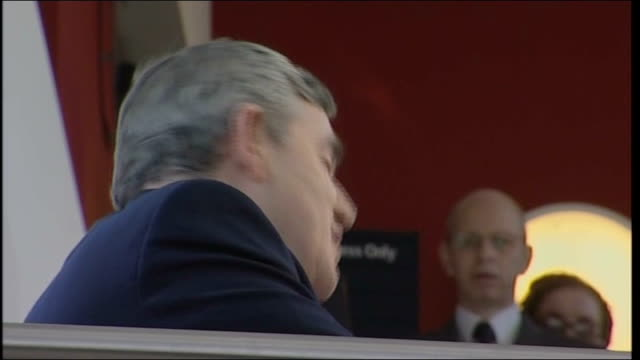 gordon brown speech at nottingham university brown and others towards out of university building then away into another entrance brown making speech... - digital camera stock videos & royalty-free footage
