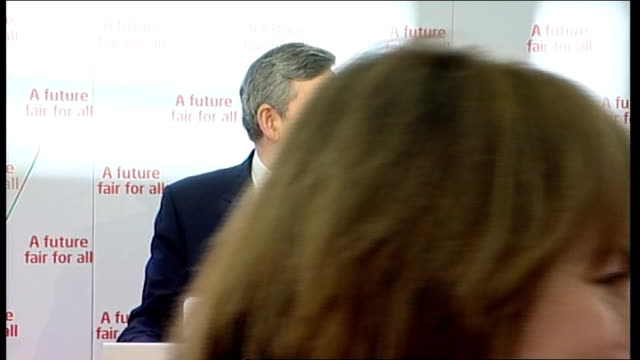 gordon brown speech at nottingham university england nottingham university of nottingham int gordon brown mp arriving with others thru glass door at... - airbrush stock videos & royalty-free footage