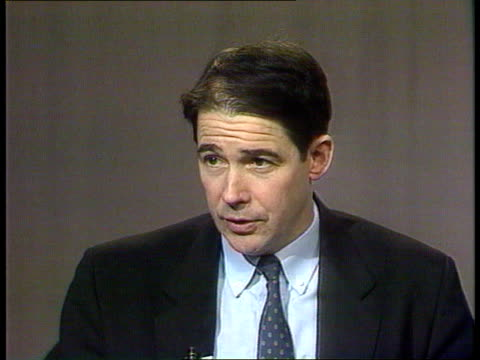 general election green party campaign int cms jonathan porritt intvwd sof environmental concerns have not declined but other issues have become... - green party stock videos and b-roll footage