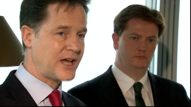 liberal democrats outline financial plans london the shard int high angle shot london buildings from window various shots nick clegg mp making speech... - light at the end of the tunnel stock videos & royalty-free footage