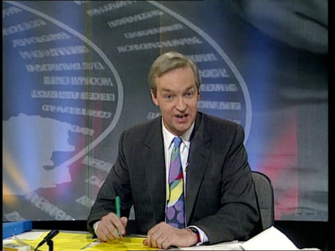 opinion poll inquest excerpt itn's election 92 programme itn - general election stock videos & royalty-free footage