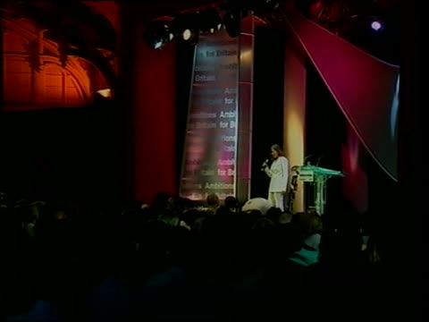 vídeos y material grabado en eventos de stock de parties focus on health; england: int charlotte church performing onstage at labour party rally sot - charlotte church