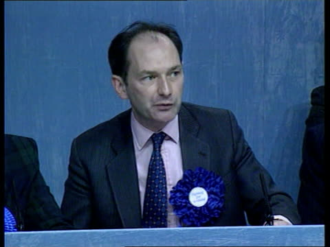 scotland itn scottish sec michael forsyth mp and others at launch of separate scottish tory manifesto michael forsyth mp pkf scottish tax raising... - tartan video stock e b–roll